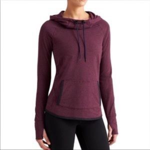Athleta Top Sentry Hoodie Cowl Neck Sweater XL